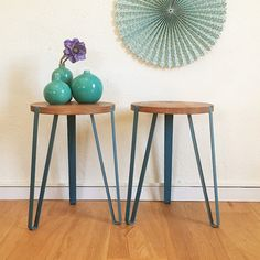 SALES  Pedestal table stool tripod mid century by ChouetteFabrique