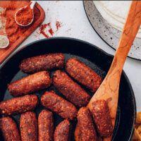 Sausage Recipes, Meat Recipes, Food Processor Recipes, Healthy Recipes, Vegan Chorizo, Chorizo Sausage, Vegan Meat Recipe, Sour Cream Biscuits, A Food
