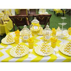 The yellow chevron party