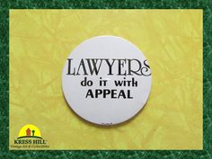 Lawyers Do It With Appeal Vintage Pinback by KressHillVintage, $10.50