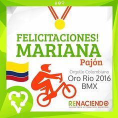 La mejor! #bmx #marianapajon #olimpicos #colombia #felicidad #orgullocolombiano