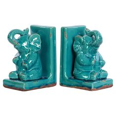 Hachi Bookend in Turquoise (Set of 2)
