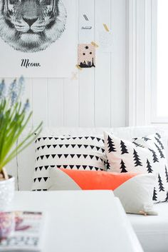 RK Design Meow Print | Fine Little Day Gran Pillow