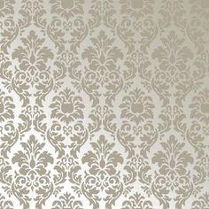 Discreto, quase da cor da parede. Usar em parede e teto.  Papel de Parede-Amarie-Muresco Papel de Parede Classico-53 cm x 10 mts