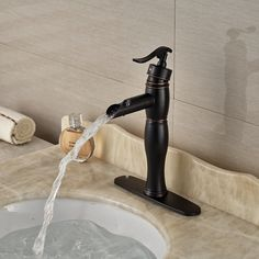 Tall 360 Rotate Type Basin Faucet White Inlaid Gold Brass Finish ...