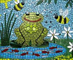 73 best images about Mosaic frogs Mosaic Rocks, Mosaic Stepping Stones, Stone Mosaic, Mosaic Glass, Stained Glass, Glass Art, Mosaic Crafts, Mosaic Art, Glass Flowers