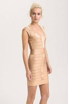 Banded Cap Sleeve Mini Dress - Lyst