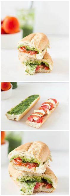 Caprese Sandwich with Parsley Pesto - Jessiker Bakes | The Blog