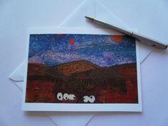 Sheep Textile Art Greeting Card