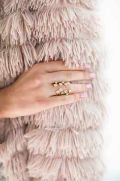 !*!*! very beautiful and unique - $45, scattered-crystals-ring-pink-peonies-collection