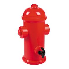 Fire Hydrant Drink Dispenser.Our fun Fire Hydrant Drink Dispenser is sure to be a huge hit at your Fire themed party!Made of sturdy plastic, this super cool dispenser measures 43cm high x 18cm wide and holds approximately 6.5 litres of liquid.Fill with your favourite beverage, party punch or soft drink for a novel way to dispense drinks for your guests and keep them hydrated.Dispenser has a removable lid for easy filling. Wash with warm soapy water before use.