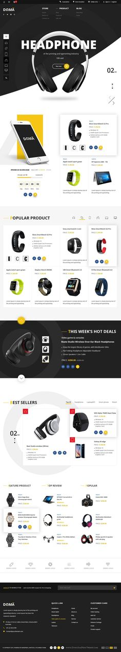DAMA is a minimalistic and extraordinary #PSD template for #eCommerce #website. Download Now!