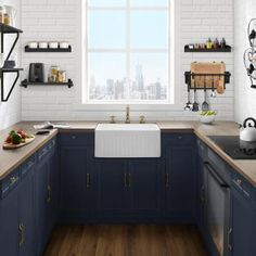 Swiss Madison Delice Farmhouse Kitchen Sink Ceramic Composite 24 in. x 18 in. Single Bowl in - The Home Depot Swiss Madison Delice Farmhouse Kitchen Sink Ceramic Composite 24 in. x 18 in. Single Bowl in - The Home Depot Layout Design, Design Ideas, Farmhouse Kitchen Island, Farmhouse Sinks, Modern Farmhouse, Farmhouse Style, Single Bowl Kitchen Sink, Kitchen Sinks, Single Sink
