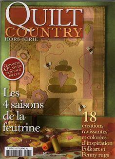 Quilt Country - Les 4 saisons de la feutrine - mfb Fieltro - Álbuns da web do Picasa Patch Quilt, Fabric Toys, Fabric Crafts, Sewing Crafts, Sewing Magazines, Country Quilts, Applique Fabric, Inspiration Art, Book Quilt