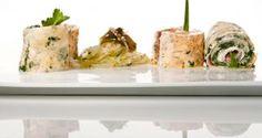 Receta de Rollitos de tortilla con ensalada de algas