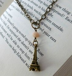 Antique Brass Effel Tower Necklace Great Effel by FrancisCreations, $26.00