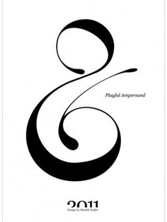 I just love ampersands. They make me think of treble clefs or swirls in the whipped cream on espresso drinks.