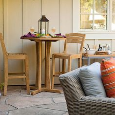 For quick meals or a quiet spot away from the party, create a separate space for smaller groups: http://www.bhg.com/home-improvement/patio/designs/decorating-patio-ideas/?socsrc=bhgpin031014createsmallerseatingareas&page=12