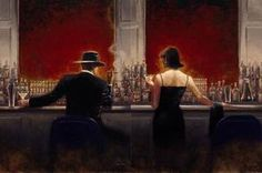 """My absolute favorite painting """"Cigar Bar and Evening Lounge"""" - Brent Lynch"""