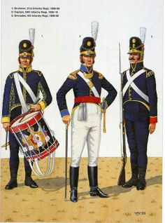Portuguese Line Infantry. L to R Drummer Infantry Regiment Captain Infantry Regiment & Grenadier Infantry Regt Lead Soldiers, Toy Soldiers, War Drums, Black Girlfriend, Army Uniform, Military Uniforms, British Uniforms, Napoleonic Wars, Military History