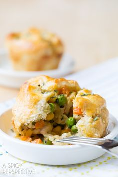 Mini Chicken Pot Pies.  For every Land O'Lakes recipe that is pinned or re-pinned between March 28 and May 31, 2014, the Land O'Lakes Foundation will donate 9 meals to Feeding America® – with the goal of 2.7 million meals. You'll get easy meal ideas and help us fight hunger at the same time! RE-PIN THIS!