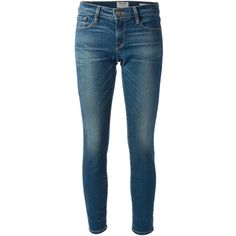 Frame Denim Skinny Jean ($187) ❤ liked on Polyvore featuring jeans, pants, bottoms, blue, skinny leg jeans, frame denim, frame denim jeans, skinny jeans and faded skinny jeans