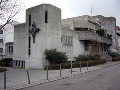 """Church """"Heilig Geist"""" (1974-76) in Stuttgart, Germany, by Rainer L. Neusch"""