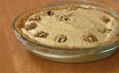 Pumpkin Chiffon Pie with Sweet Walnut Crust My husband has requested this for Thanksgiving