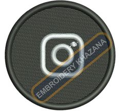 instragram black logo embroidery design
