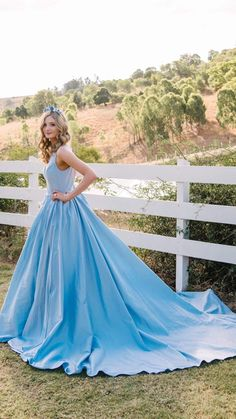 Blue Dresses, Formal Dresses, Ball Gowns, Bright, Fashion, Dresses For Formal, Ballroom Gowns, Moda, Formal Gowns