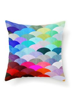 Lovely color combinations-Scales Pillow.