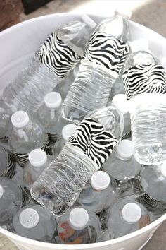 Duct tape + water bottles= super cute way to get kids (& mom) excited to drink water!
