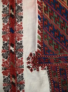 Popular Folk Embroidery Detail of embroidery on shoulder of chemise, Romanian, ca. from the Princess Ileana of Romania Collection at the Kent State University Museum, KSUM Folk Embroidery, Learn Embroidery, Embroidery Patterns Free, Embroidery Designs, Folk Costume, Vintage Textiles, Embroidery Techniques, Blackwork, Folk Art