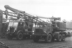2 AEC old truck cranes