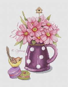 Thrilling Designing Your Own Cross Stitch Embroidery Patterns Ideas. Exhilarating Designing Your Own Cross Stitch Embroidery Patterns Ideas. Cross Stitch Bird, Modern Cross Stitch, Cross Stitch Flowers, Counted Cross Stitch Patterns, Cross Stitch Designs, Cross Stitching, Cross Stitch Embroidery, Embroidery Patterns, Fabric Birds