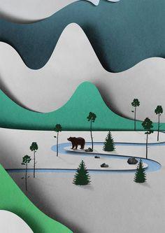 Eiko Ojala - paper cut landscape