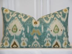 Decorative Pillow Cover   IKAT  Throw by TurquoiseTumbleweed, $45.00