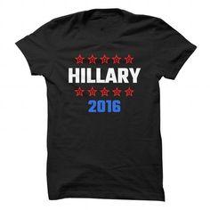 Hillary 2016 - #gift basket #gift certificate. PRICE CUT => https://www.sunfrog.com/Political/Hillary-2016-89425512-Guys.html?68278