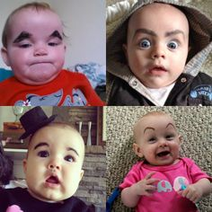 [Photo Ideas] Babies + Giant Eyebrows