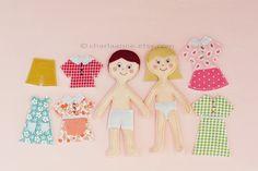 felt dollls and dollhouse