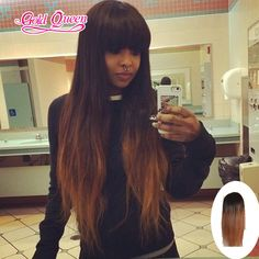 Cute 150 density human hair full lace wigs 26inch ombre human hair lace wig 130# human hair wigs with bangs