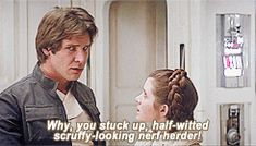 gif * film star wars Princess Leia Han Solo The Empire Strikes Back A New Hope My crap harrison ford carrie fisher princess leia organa