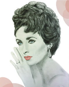 This Illustration of Elizabeth Taylor was illustrated with graphite pencil on Canson paper. Elizabeth Taylor, Graphite, Pencil, Paper, Illustration, Ideas, Art, Graffiti, Art Background
