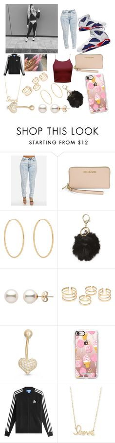 """""""movies"""" by danibae ❤ liked on Polyvore featuring Michael Kors, Loren Stewart, BP., Gioelli, Casetify, adidas and Sydney Evan"""