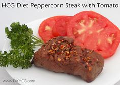 Juicy steak for phase 2 of the HCG diet... with a KICK of spice from peppercorns! YUM!