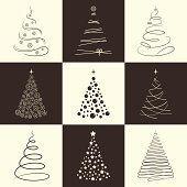 Weihnachtsbaum-icons