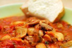 Various Mushroom Stew Recipes from Utica NY Ny Food, New York Food, Italian Chef, Italian Recipes, Italian Cooking, Crockpot Mushrooms, Meat Recipes, Cooking Recipes, Recipies
