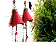 Collection HIVER 2014-2015 / L'Eté Indien de ZAELLEZA / Boucles d'oreille SIOUX #cuir #perle #eteindien #zaelleza