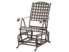 International Caravan Santa Fe Iron Porch Glider in Rustic Brown. Studded Santa Fe Design Patio Furniture by International Caravan. Iron Patio or Porch Glider. Wrought Iron Design, Rustic Brown finish. Electrophoresis treatment for durability - some assembly required. Hardware and instructions included - CUSHIONS NOT INCLUDED.