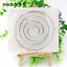 [Visit to Buy] KSCRAFT Sewing Circles Clear Silicone Rubber Stamp for DIY scrapbooking/photo album Decorative craft #Advertisement